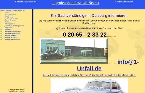 Vorschau von www.kfz-gutachter-duisburg.de, Ingenieurgemeinschaft Becker