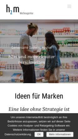 Vorschau der mobilen Webseite www.h2m.de, h2m Kommunikations-Agentur GmbH