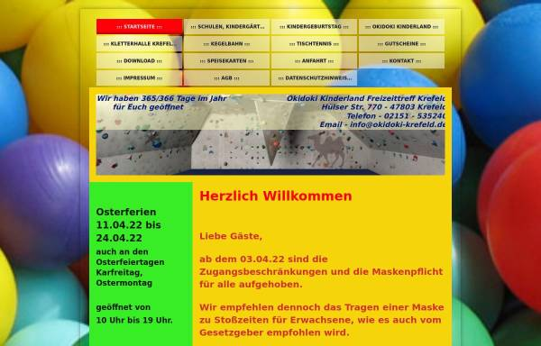 Vorschau von www.okidoki-krefeld.de, Freitzeit-Treff Hülserstrasse Akoglu GmbH