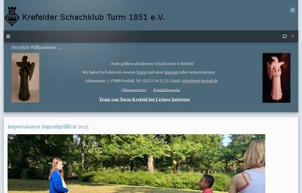 Vorschau von www.turm-krefeld.de, Krefelder Schachklub Turm 1851 e.V.