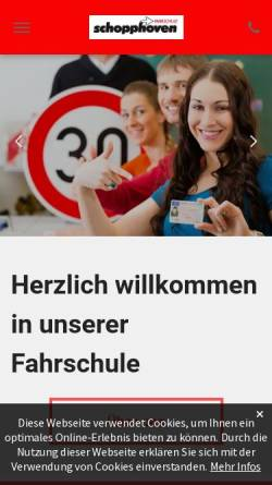 Vorschau der mobilen Webseite www.fahrschule-maas-gerhards.de, Fahrschule Maas-Gerhards