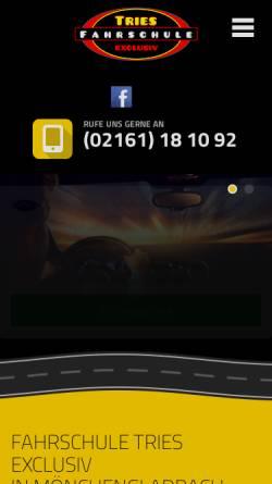 Vorschau der mobilen Webseite www.fahrschule-tries.de, Fahrschule Tries