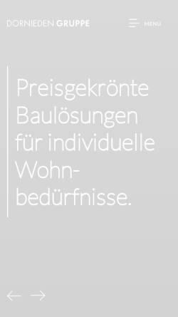 Vorschau der mobilen Webseite www.dornieden.com, Dornieden Generalbau GmbH