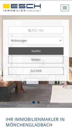 Vorschau der mobilen Webseite www.esch-immobilien.de, Esch Immobilien