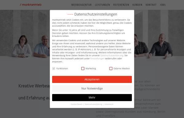 Vorschau von www.marktantrieb.de, Marktantrieb GmbH
