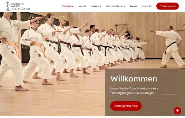 Vorschau von www.karate-muenster.de, Shotokan Karate Dojo Münster e.V.