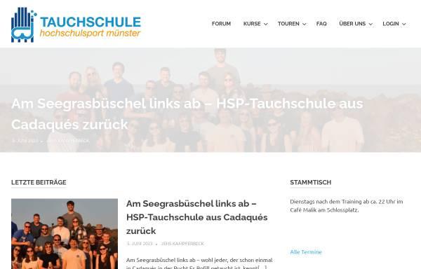 Vorschau von www.tauchen-hsp.de, Tauchschule Hochschulsport Münster