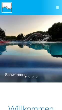 Vorschau der mobilen Webseite wasser-freizeit.de, Wasser + Freizeit Münster e. V.