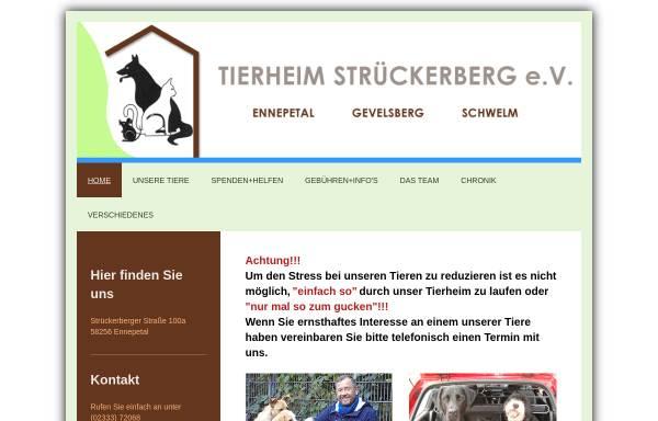 Vorschau von www.tierheim-ennepetal.de, Tierheim Strückerberg Ennepetal