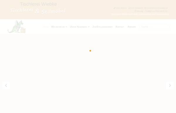 Vorschau von tischlerei-wiebke.de, Tischlerei Rudi Wiebke