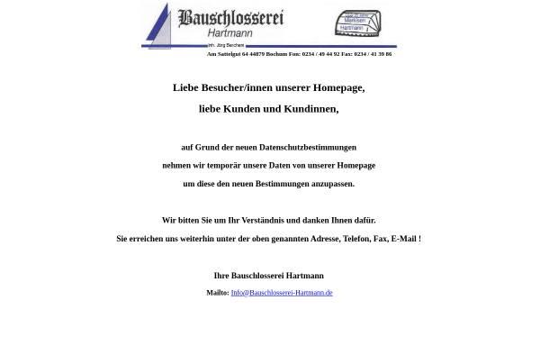 Vorschau von www.bauschlosserei-hartmann.de, Bauschlosserei-Hartmann