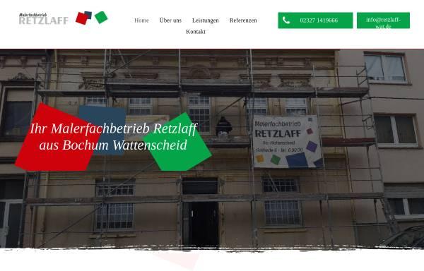 Vorschau von www.retzlaff-wat.de, Malerfachbetrieb, Harald Retzlaff