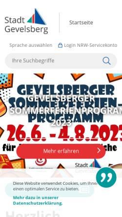 Vorschau der mobilen Webseite www.gevelsberg.de, Gevelsberg