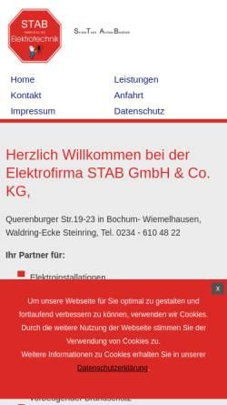 Vorschau der mobilen Webseite www.st-ab.de, STAB GmbH & Co.KG