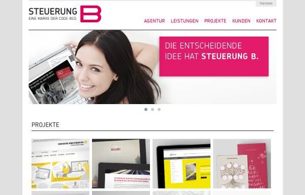 Vorschau von www.steuerungb.de, Steuerung B - Agentur für Online-Kommunikation