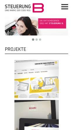 Vorschau der mobilen Webseite www.steuerungb.de, Steuerung B - Agentur für Online-Kommunikation