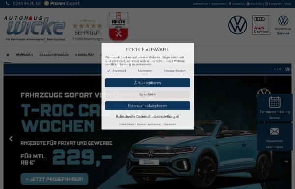 Vorschau von www.vw-wicke.de, Autohaus Wicke GmbH