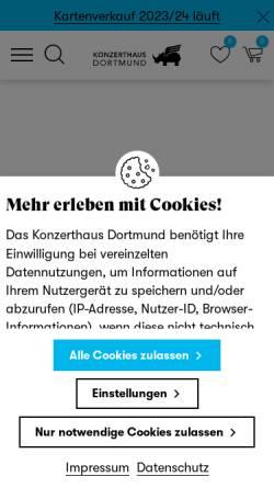 Vorschau der mobilen Webseite www.konzerthaus-dortmund.de, Konzerthaus Dortmund