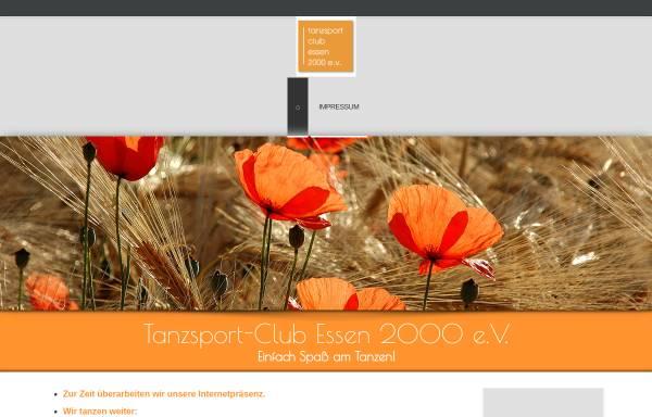 Vorschau von www.tanzsportclub-essen.de, Tanzsport-Club Essen 2000 e.V.
