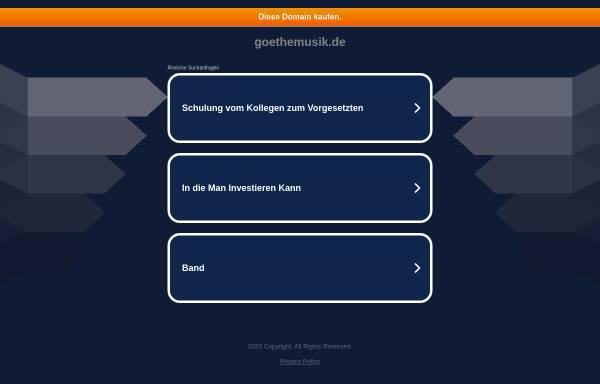 Vorschau von www.goethemusik.de, Bredeneyer Schulorchester und Chöre der Goetheschule