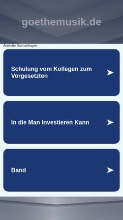 Vorschau der mobilen Webseite www.goethemusik.de, Bredeneyer Schulorchester und Chöre der Goetheschule