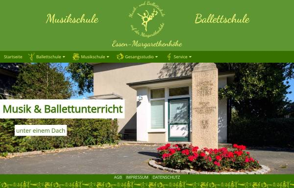 Vorschau von www.musik-ballett.de, Musik- und Ballettschule Essen - Margarethenhöhe
