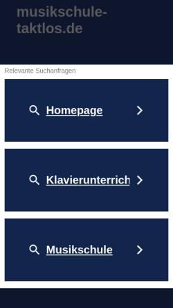 Vorschau der mobilen Webseite www.musikschule-taktlos.de, Musikschule Taktlos