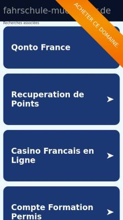 Vorschau der mobilen Webseite www.fahrschule-muessener.de, Fahrschule Müssener