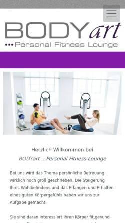 Vorschau der mobilen Webseite www.body-art-essen.de, Body Art Fitnessstudio