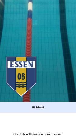 Vorschau der mobilen Webseite www.essen06.de, Essener Schwimmverein 1906 e.V.