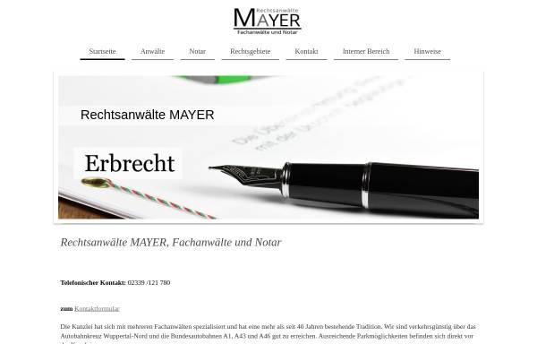 Vorschau von www.anwaelte-mayer.de, Rechtsanwälte und Notare Mayer und Euler in Sprockhövel Hasslinghausen
