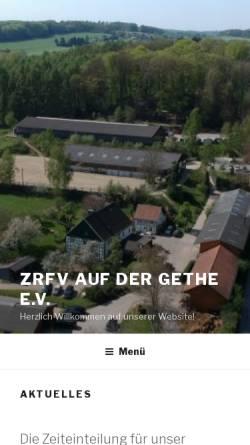Vorschau der mobilen Webseite www.gethe.de, ZRFV Auf der Gethe e.V.