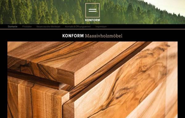 Vorschau von www.konform-moebel.de, Konform Massivholzmöbel