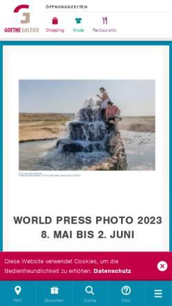 Vorschau der mobilen Webseite www.goethegalerie-jena.de, Werbegemeinschaft Goethe Galerie Jena e. V.