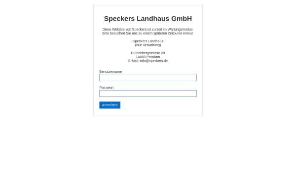 Vorschau von www.speckers.de, Speckers Gaststätte zur Ratswaage