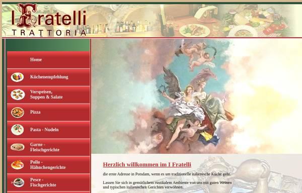 Vorschau von fratelli-potsdam.de, Trattoria Fratelli