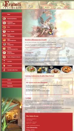 Vorschau der mobilen Webseite fratelli-potsdam.de, Trattoria Fratelli