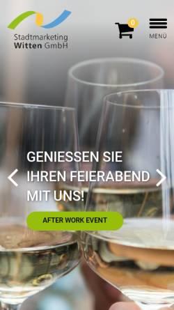 Vorschau der mobilen Webseite www.stadtmarketing-witten.de, Stadtmarketing Witten GmbH