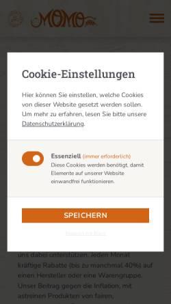 Vorschau der mobilen Webseite www.bioladen.com, Bioladen Firmenich & Murmann KG