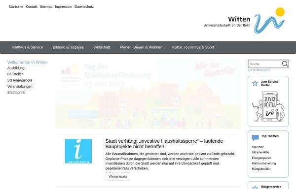 Vorschau von www.witten.de, Witten