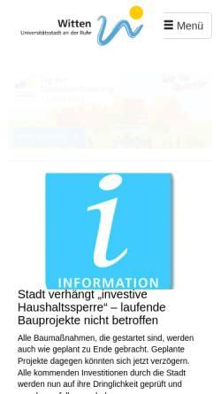 Vorschau der mobilen Webseite www.witten.de, Witten