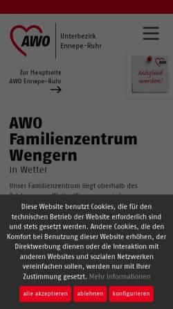 Vorschau der mobilen Webseite www.kita-wengern.de, AWO-Kindertageseinrichtung am Brasberg