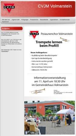 Vorschau der mobilen Webseite www.cvjm-volmarstein.de, CVJM Volmarstein