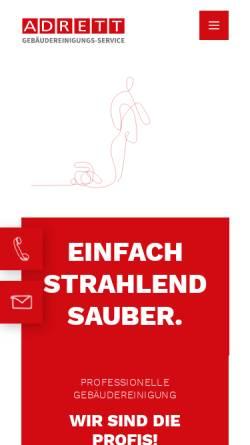 Vorschau der mobilen Webseite www.adrett-gmbh.de, Adrett GmbH