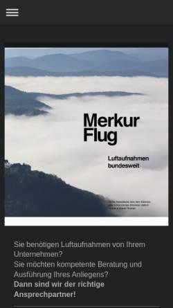 Vorschau der mobilen Webseite www.merkurflug.de, Merkur Flug GmbH