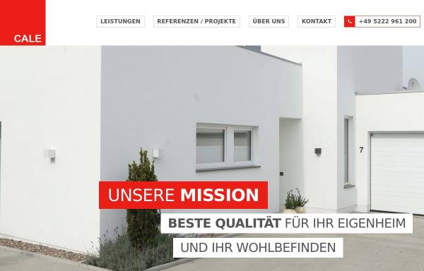 Vorschau von cale.de, Cale Bauelemente GmbH