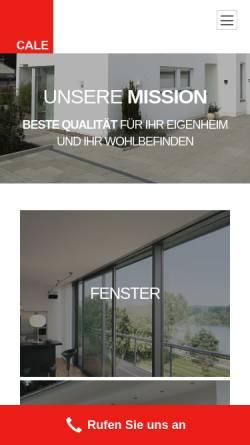 Vorschau der mobilen Webseite cale.de, Cale Bauelemente GmbH