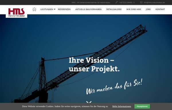 Vorschau von www.hms-industriebau.de, HMS Industriebau GmbH