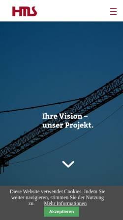 Vorschau der mobilen Webseite www.hms-industriebau.de, HMS Industriebau GmbH