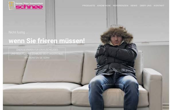 Vorschau von www.schnee-fenster.de, Schnee GmbH & Co. KG,Türen und Fensterbautechnik